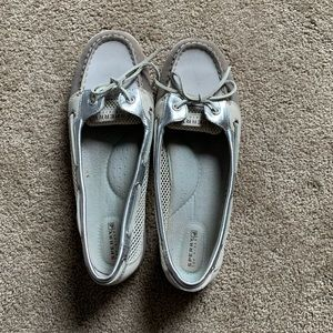 Sperry Sliver/Gray Angelfish Shoes